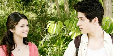Selena Gomez and David Henrie in the Wizards of Waverly Place movie Alex Russo