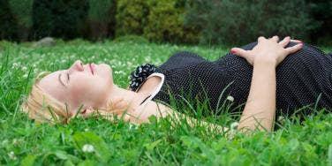Woman resting.