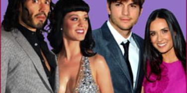 Russell Brand and Katy Perry, Ashton Kutcher and Demi Moore