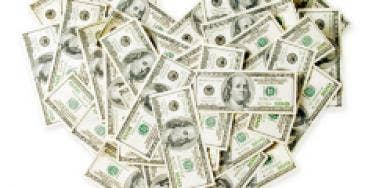 money dollars heart