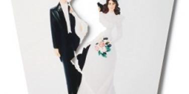 torn wedding picture