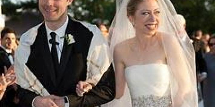 Chelsea Clinton at her wedding