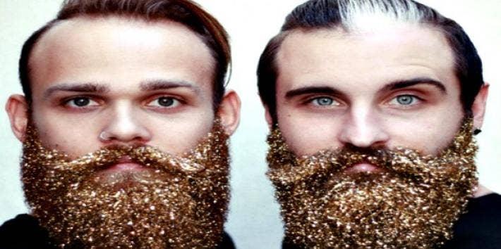 Glitter beards.