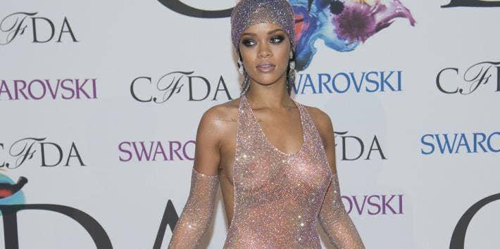 Rihanna Nude Dress