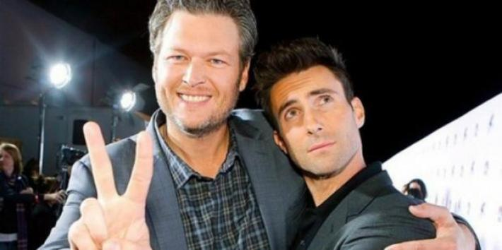 Blake Shelton and Adamn Levine