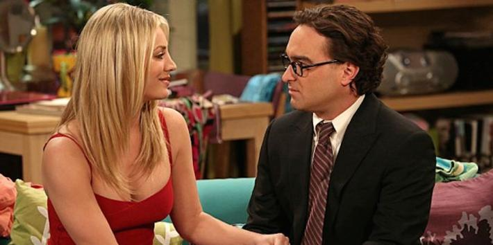 Kaley Cuoco and Johnny Galecki from The Big Bang Theory