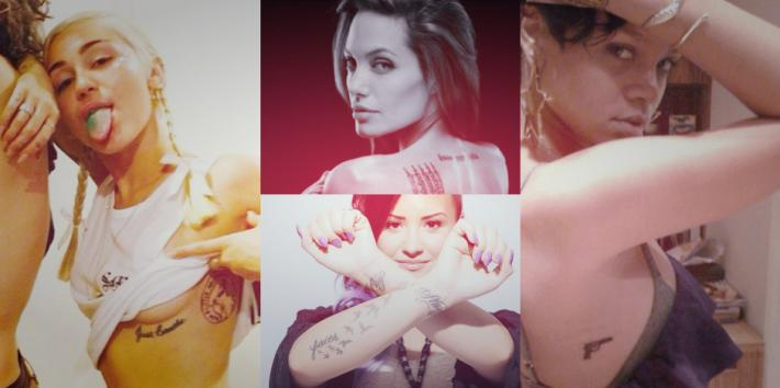 female celebrity tattoos