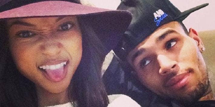 Karrueche Tran Chris Brown girlfriend dating in love before breakup