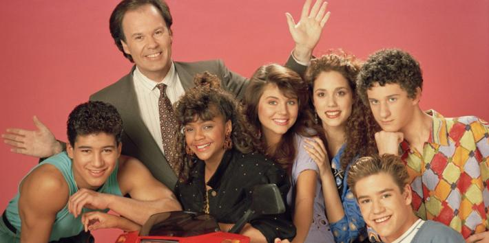 Saved By The Bell Cast: Mario Lopez as AC Slater, Dennis Haskins as Mr. Belding, Lark Voorhies as Lisa Turtle, Tiffani Thiessen as Kelly Kapowski, Elizabeth Berkeley as Jessie Spano, Dustin Diamond as Screech, Mark Paul Gosselaar as Zack Morris