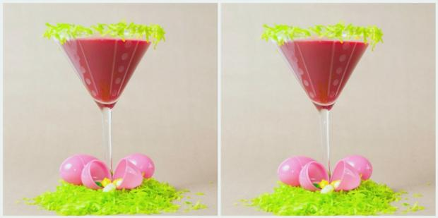 How To Make A DIY Pink Bunny Peeps Easter Candy Cocktail