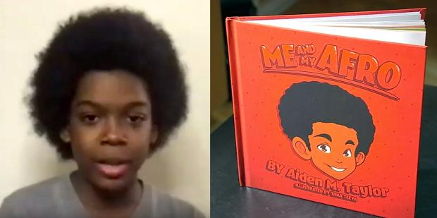 11-Year-Old Boy Encourages Black Kids To Embrace Their Natural Hair In His New Book 'Me And My Afro'