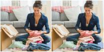 woman practicing home organization