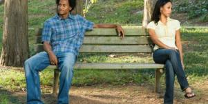 angry couple on a bench
