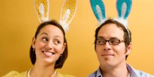 couple in bunny ears