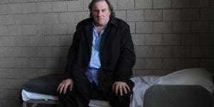 Gerard Depardieu Sitting In Bed