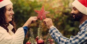 couple christmas tree