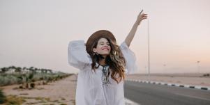 carefree girl