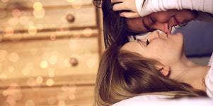 cuddling couple
