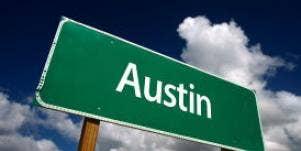Austin road sign