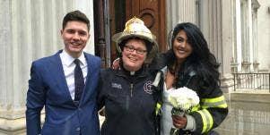 fdny chaplain saves wedding
