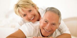 older couple over 50 affectionate