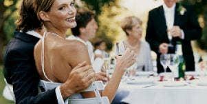 bride groom wedding toast