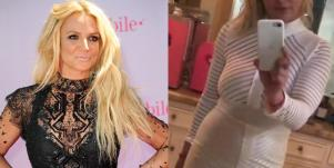 Britney Spears Pregnancy Bump