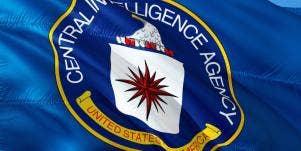 CIA flag waving