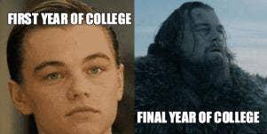 leonardo dicaprio college meme