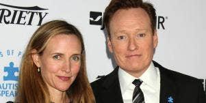 Liza Powel O'Brien and Conan O'Brien