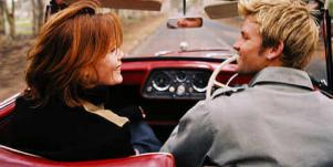 couple driving