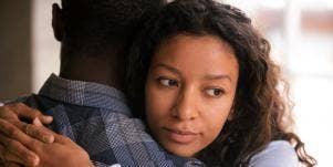 woman hugging man going through a high conflict divorce