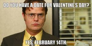 dwight schrute boyfriend for valentine's day
