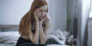 very sad woman