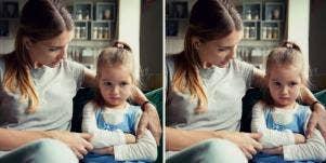 mother using parenting styles on preschooler