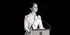Emma Watson gives a speech to the U.N.