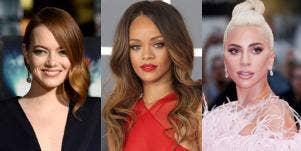 Emma Stone, Rihanna and Lady Gaga