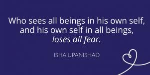 Isha Upanishad fear quote