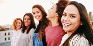 happy group of women
