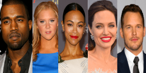 kanye west amy schumer thandie newton angelina jolie chris pratt