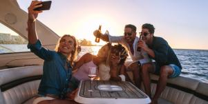 partying on boat