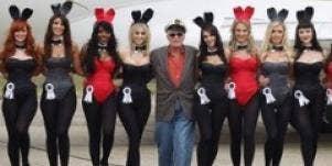 hugh hefner and playboy bunnies