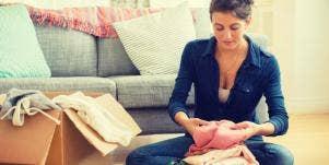 woman decluttering hoarding