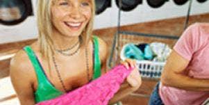 woman finding boyfriend's dirty laundry