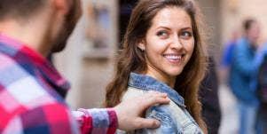 girl smiling at guy