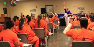 inmates in a classroom