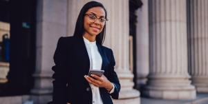 professional woman in business suit