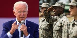 President Joe Biden, Service members