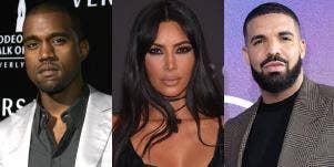 Kanye West, Kim Kardashian, Drake