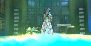 Kid Cudi performing Sad People on Saturday Night Live